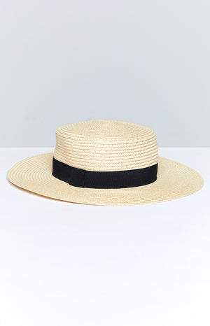 Madeline Boater Hat Natural