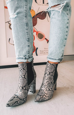 Billini Madelyn Boots Natural Snake