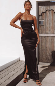 Manhattan Slip Formal Dress Black