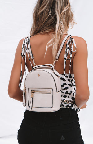 Peta & Jain Zoe Mini Back Pack Nude
