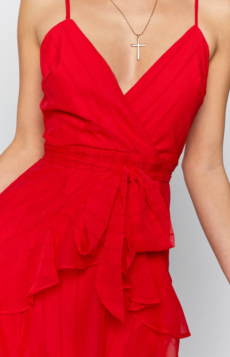 Morning Dew Dress Red
