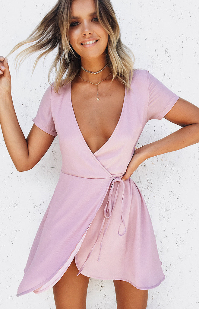 Sacred Wrap Dress Blush