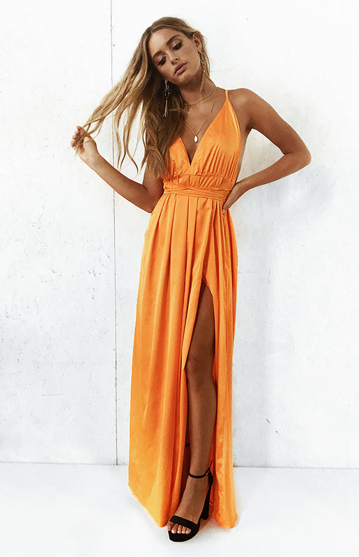Paloma Formal Maxi Dress Tangerine