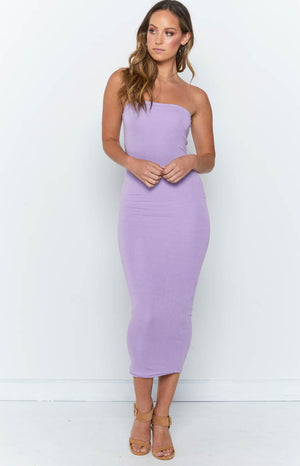 Nicki Strapless Dress Lilac