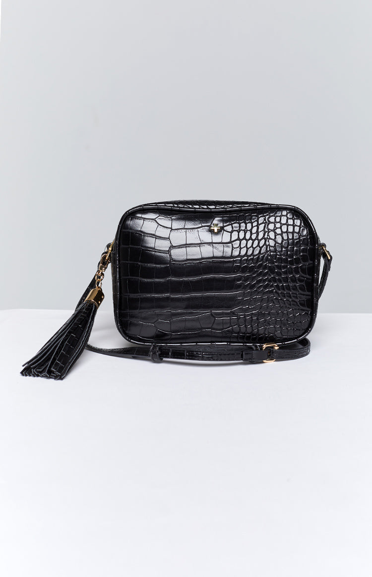 Peta & Jain Gracie Bag Black Croc
