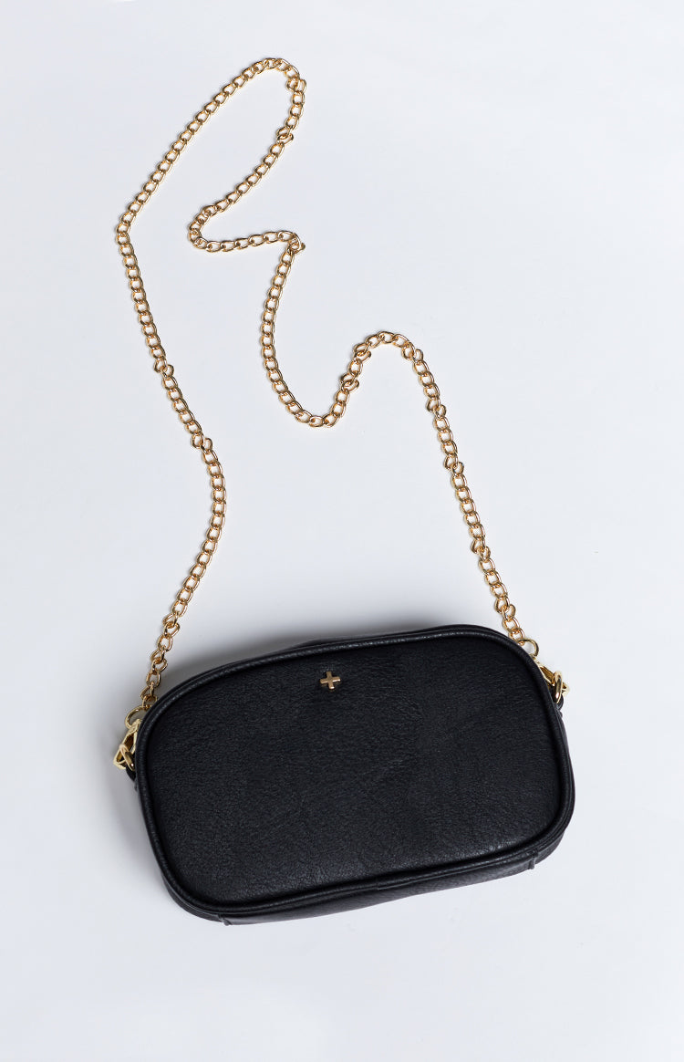 Peta & Jain Riri Chain Cross Over Bag Black