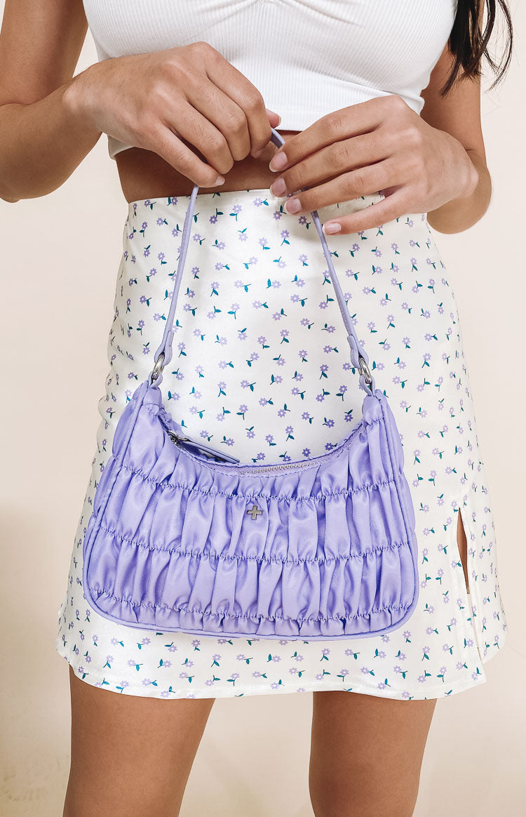 Peta & Jain Tyra Shoulder Bag Lilac Nylon