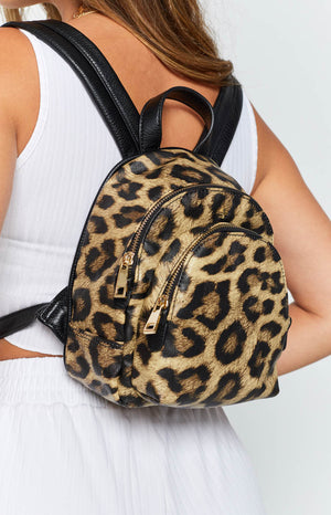 Peta & Jain Jordan Mini Back Pack Black Leopard