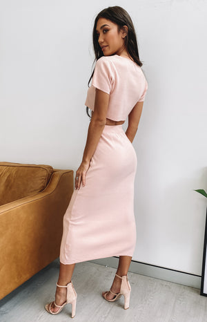 Phoebe Midi Skirt Blush