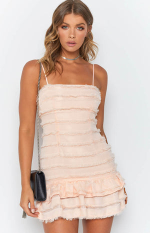 Prohibition Fringe Dress Pink