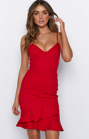 Afresh Dress Red