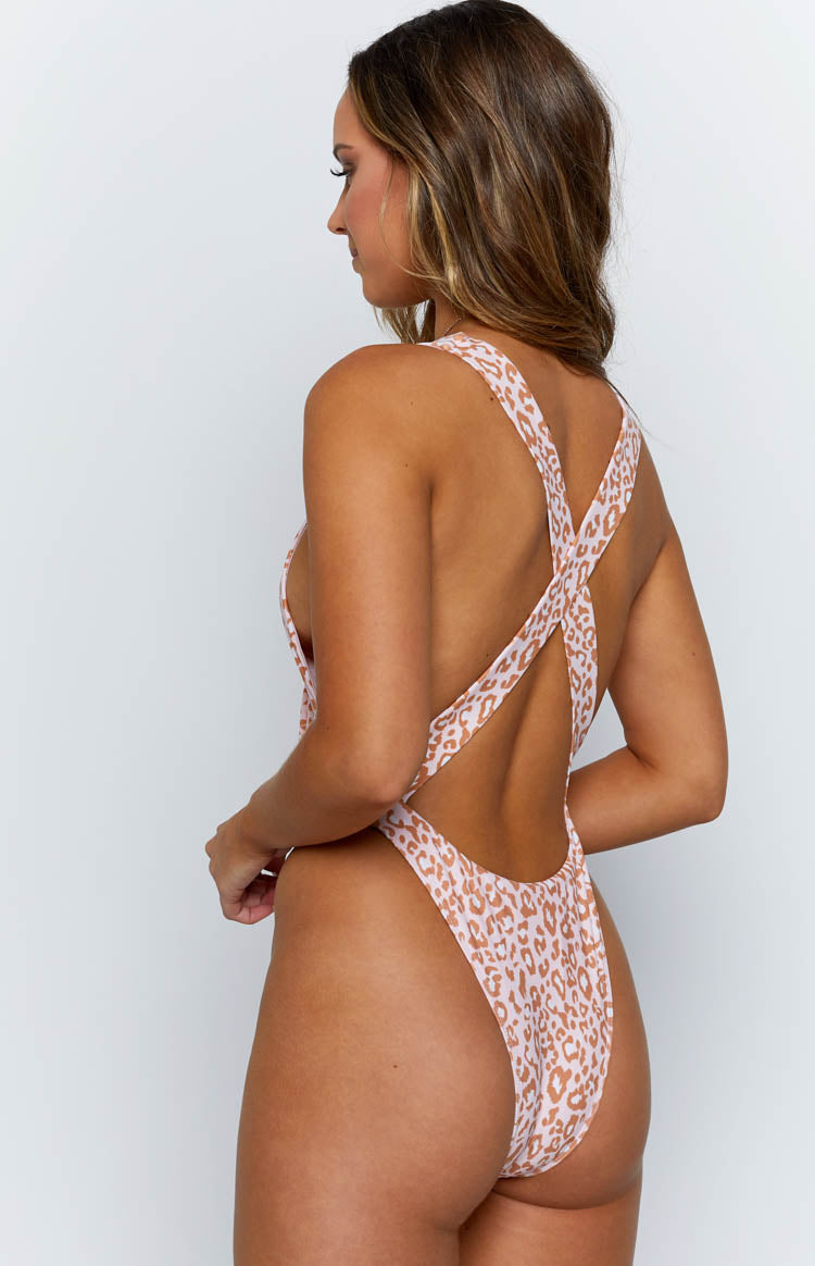9.0 Swim Clarita Tie Up One Piece Leopard