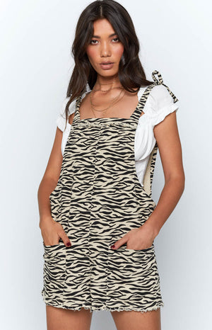 Sahara Breeze Playsuit White Leopard