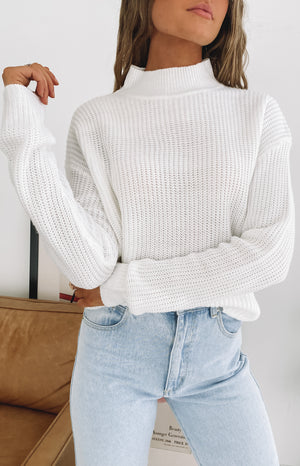Secretly Knitted Sweater White