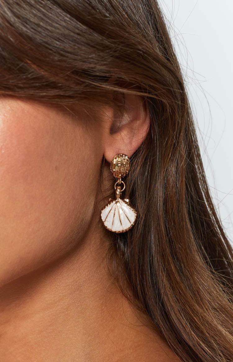 Eclat Sea Shore Earrings White Gold