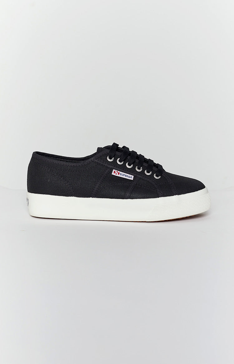 Superga 2730 COTU Canvas Sneaker Black and White