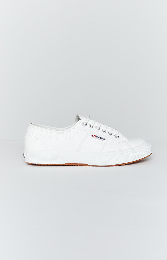 Superga 2750 EFGLU Leather Sneaker White 4