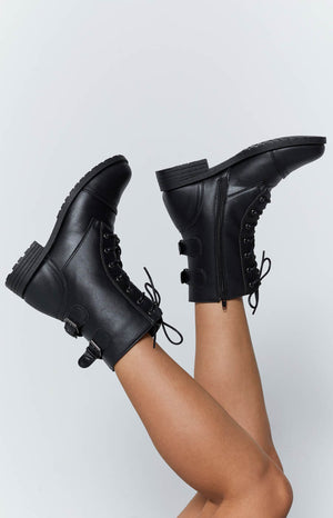 Tasha Buckle Boots Black