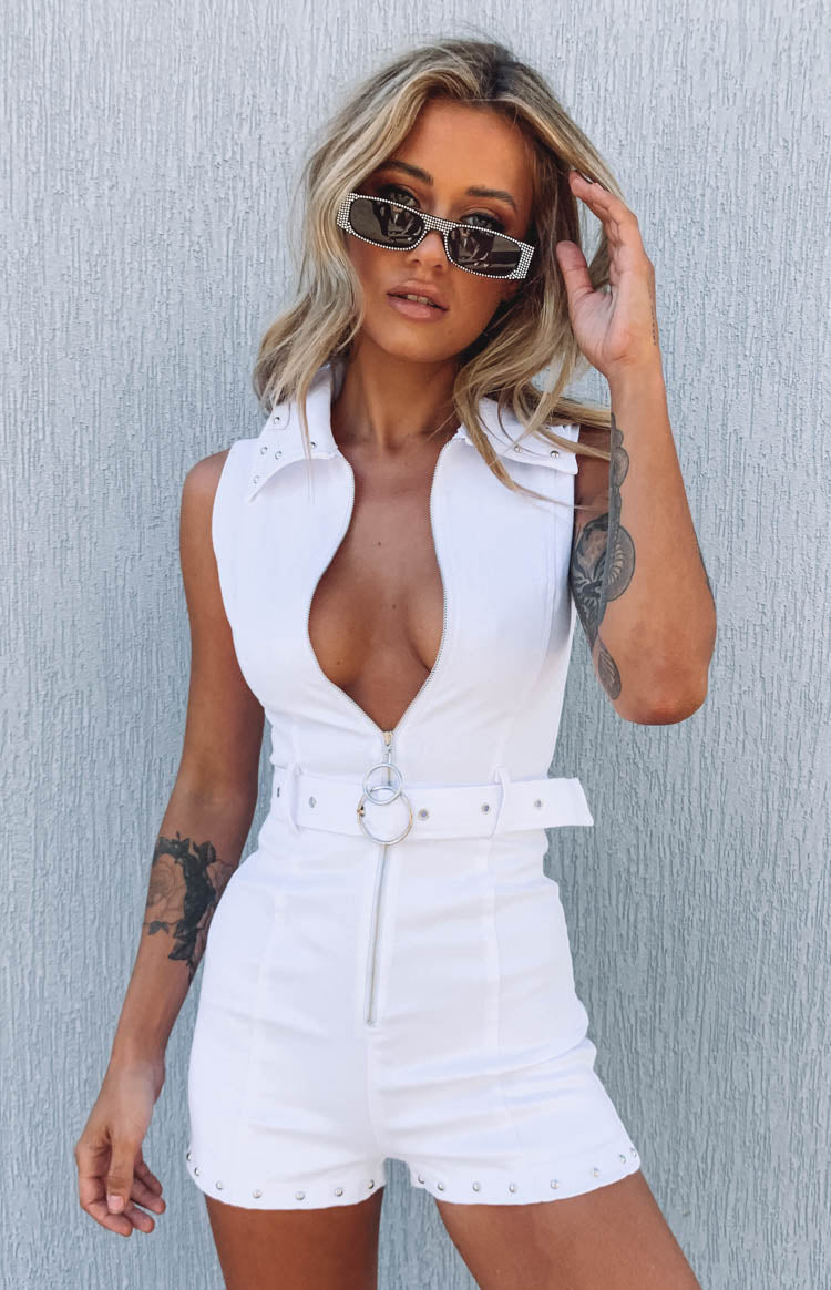 The Presley Jumpsuit White