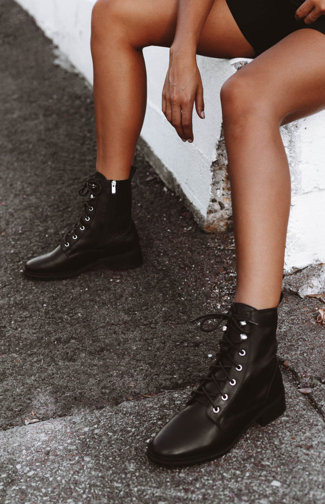 Therapy Ramona Boots Black Smooth 9