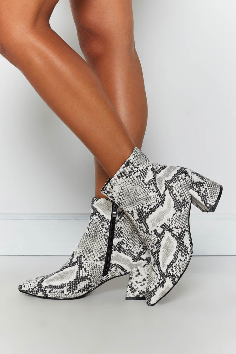 Therapy Sidney Heeled Boots Snake