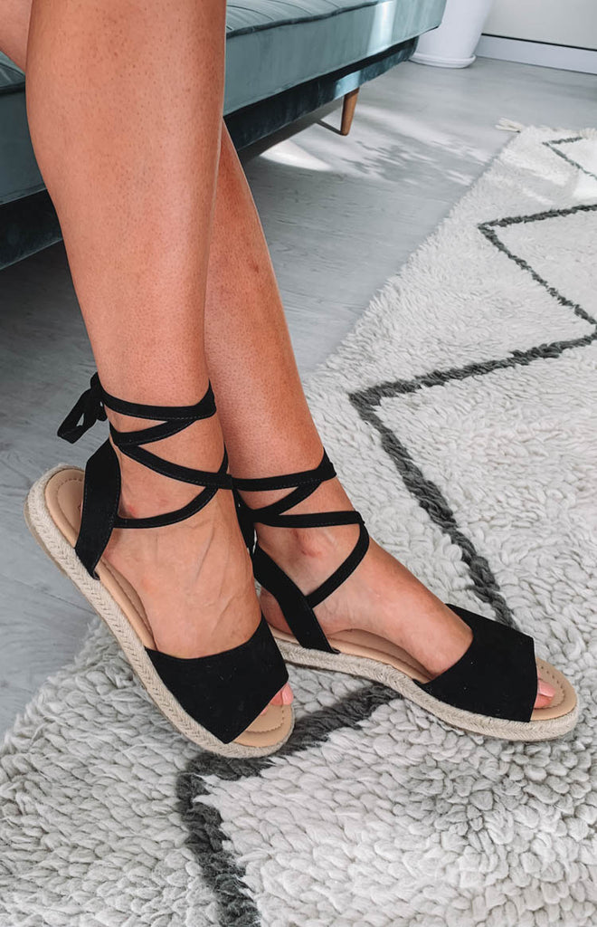 Therapy Dauphin Sandals Black Suede 5