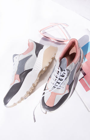 Therapy Busta Sneakers Grey and Pink