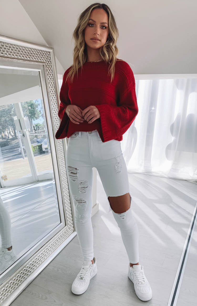 Tides Ripped Jeans White