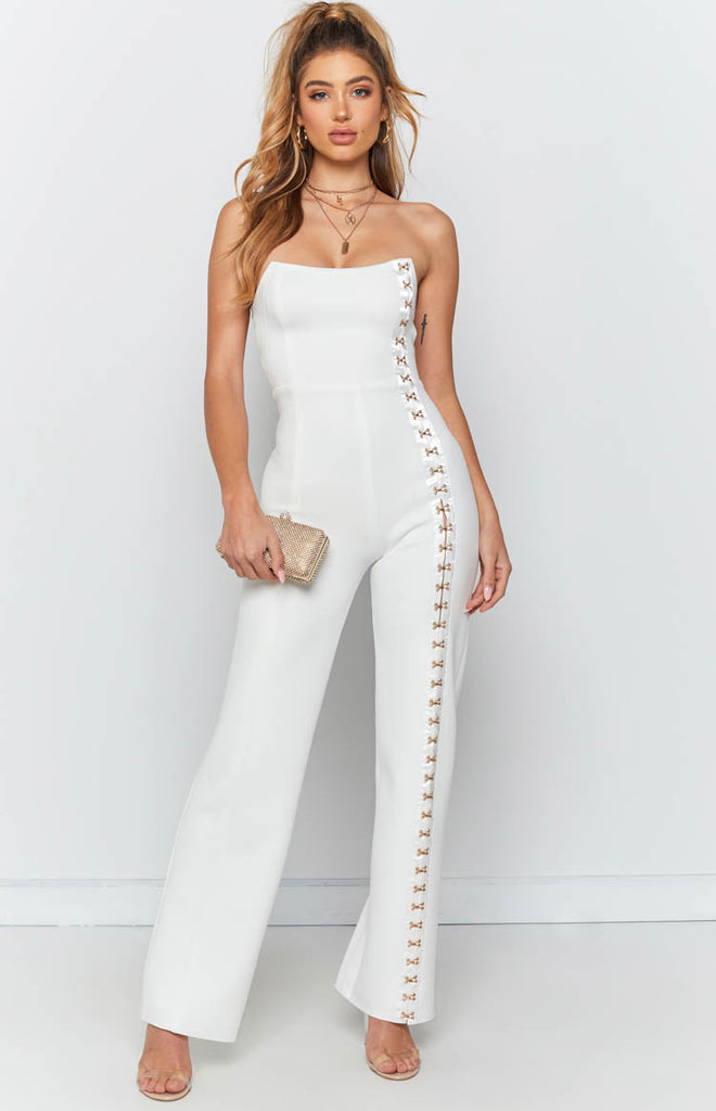 Times Square Jumpsuit White – Beginning Boutique
