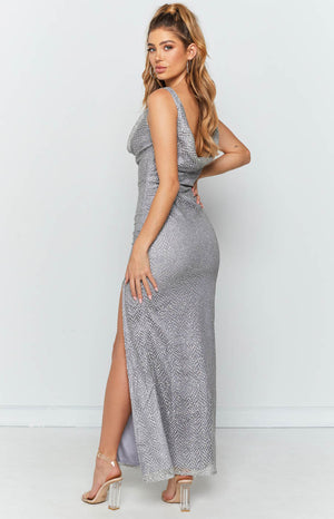 Venice Formal Dress Silver Sparkle