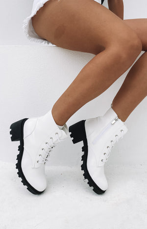 Verali Tonka Boot White Softee