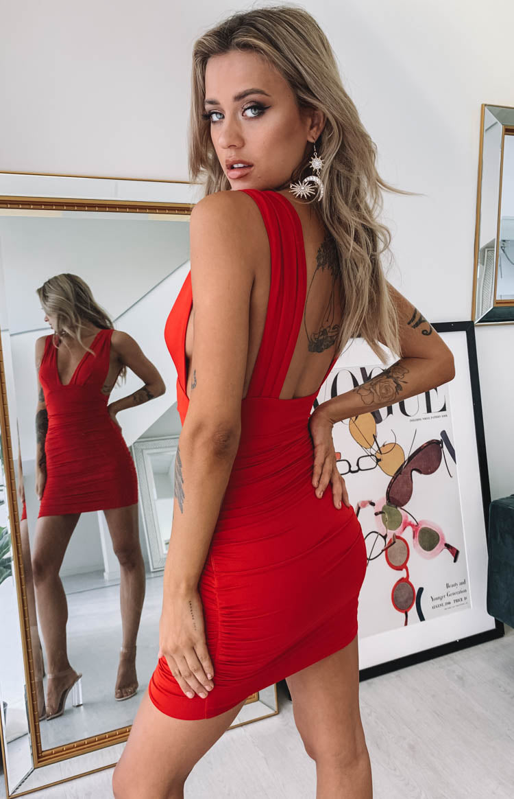Verity Dress Red