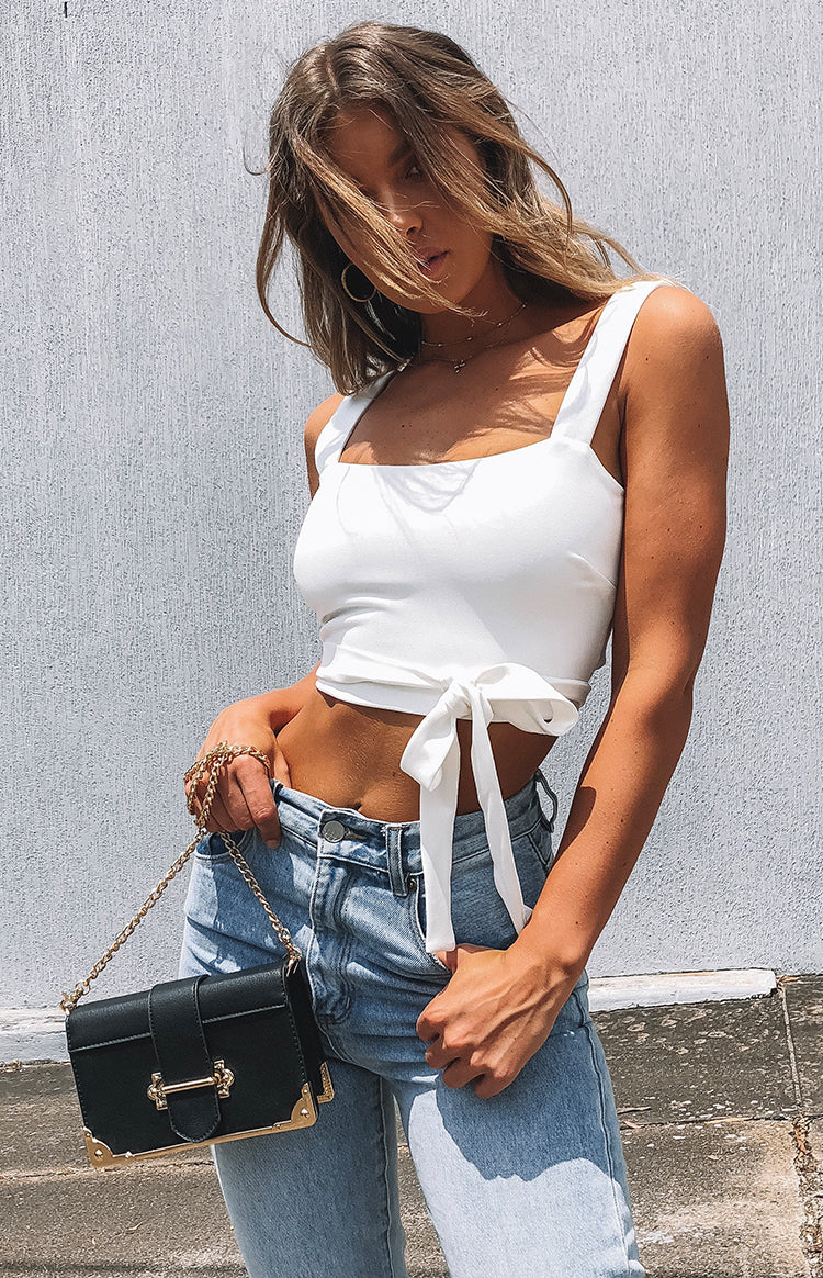 Virginia Tie Crop White