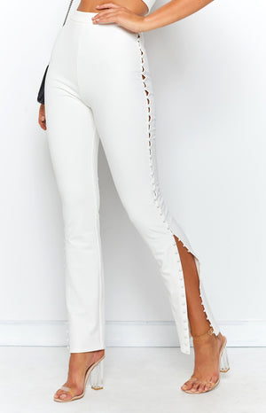 Push My Buttons Pants White