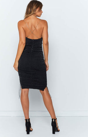 Wild Delight Dress Black