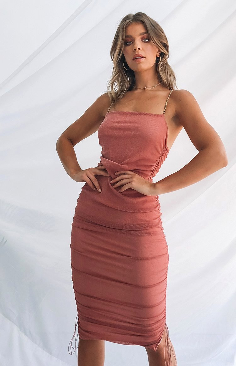 Wild Delight Dress Deep Rose