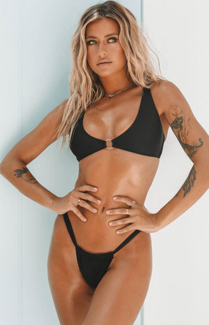 9.0 Swim Willow Bikini Top Black