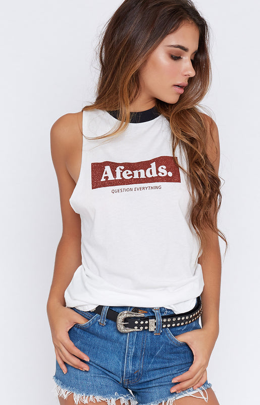 Afends Better Future Logo Bandcut Tee Natural