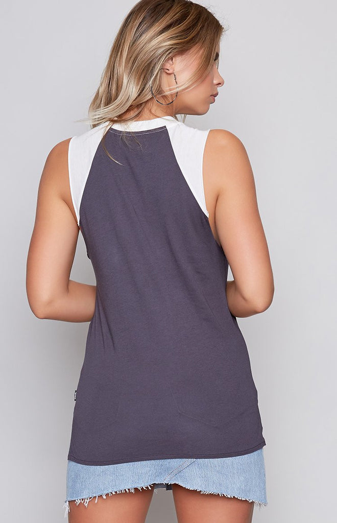 Afends Iggy Bandcut Tee Charcoal & Natural