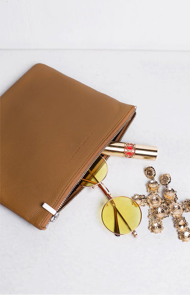 Status Anxiety Anti-Heroine Clutch Tan