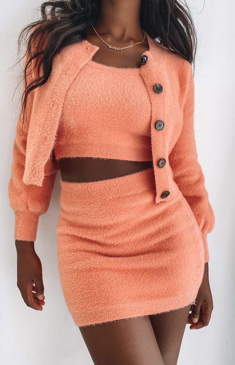 Apollo Knit Cardi Peach