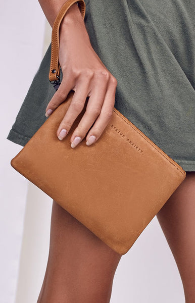 Status Anxiety Fixation Wallet Tan