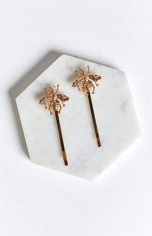 Eclat Honey Bee Hair Clip Gold