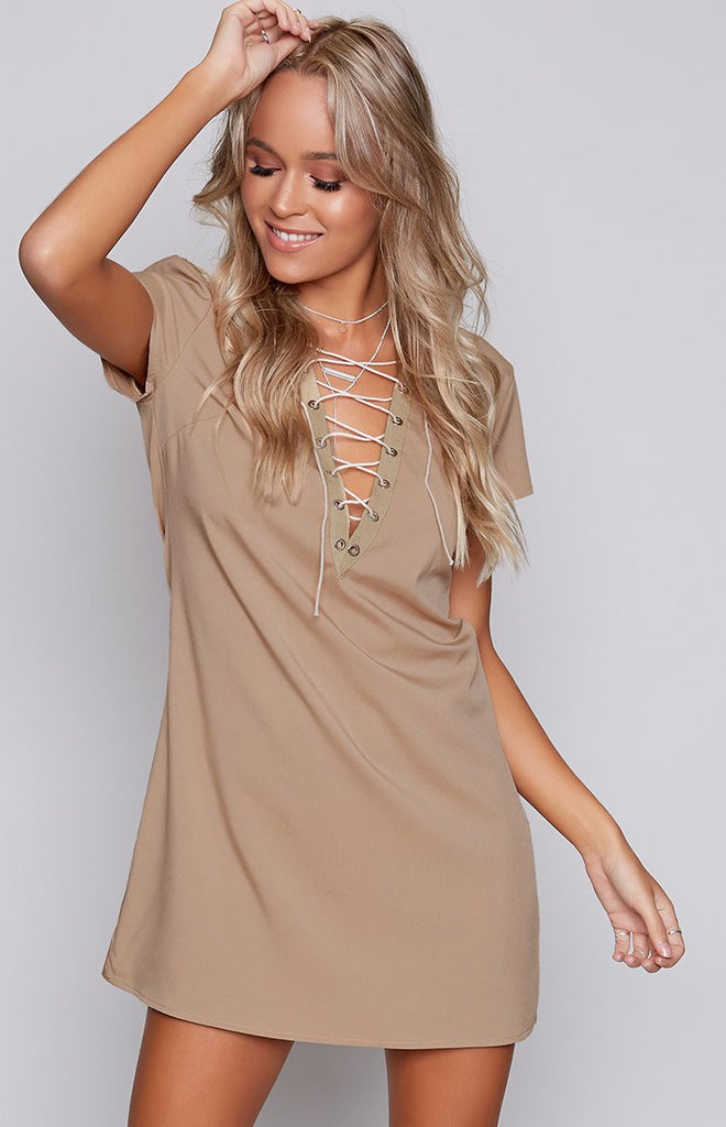 Call me Lacie Dress Beige