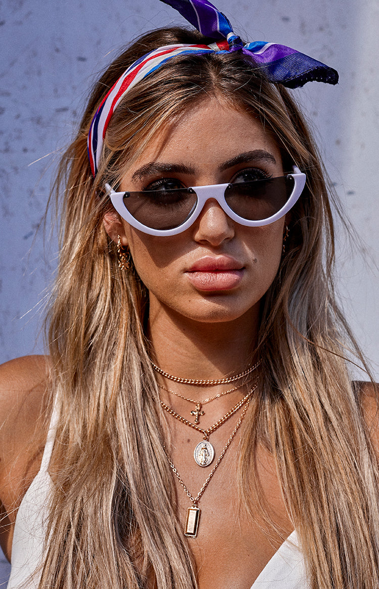 Eclat So Sassy Cat Eye Sunglasses White