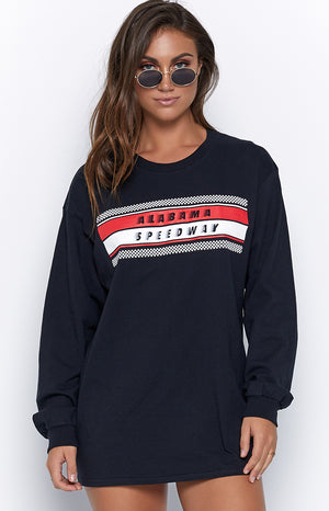 Alabama Speedway LS Dress Black