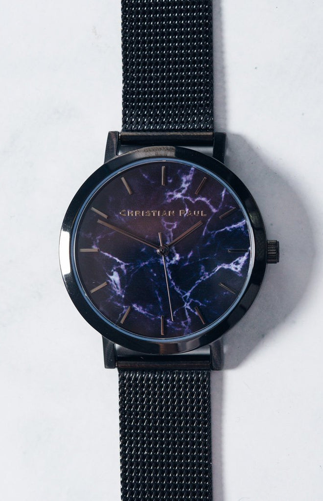 Christian Paul The Strand Marble Mesh 35mm Watch