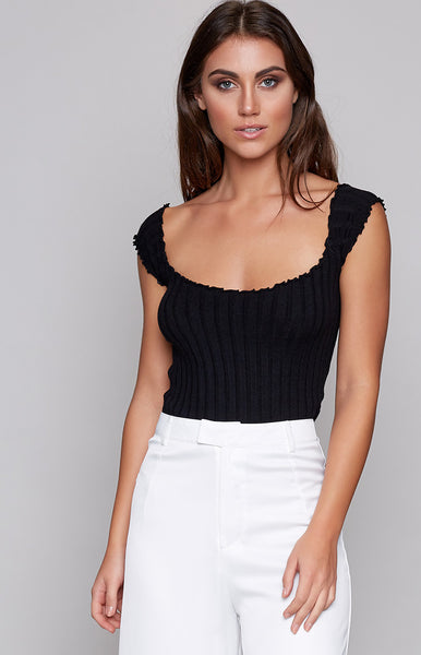 Lovely Lindsey Top Black