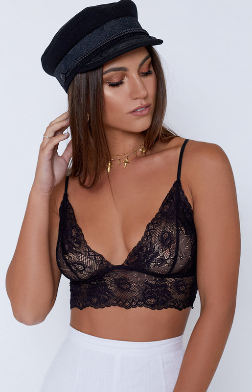 Betty Lace Bralette Black