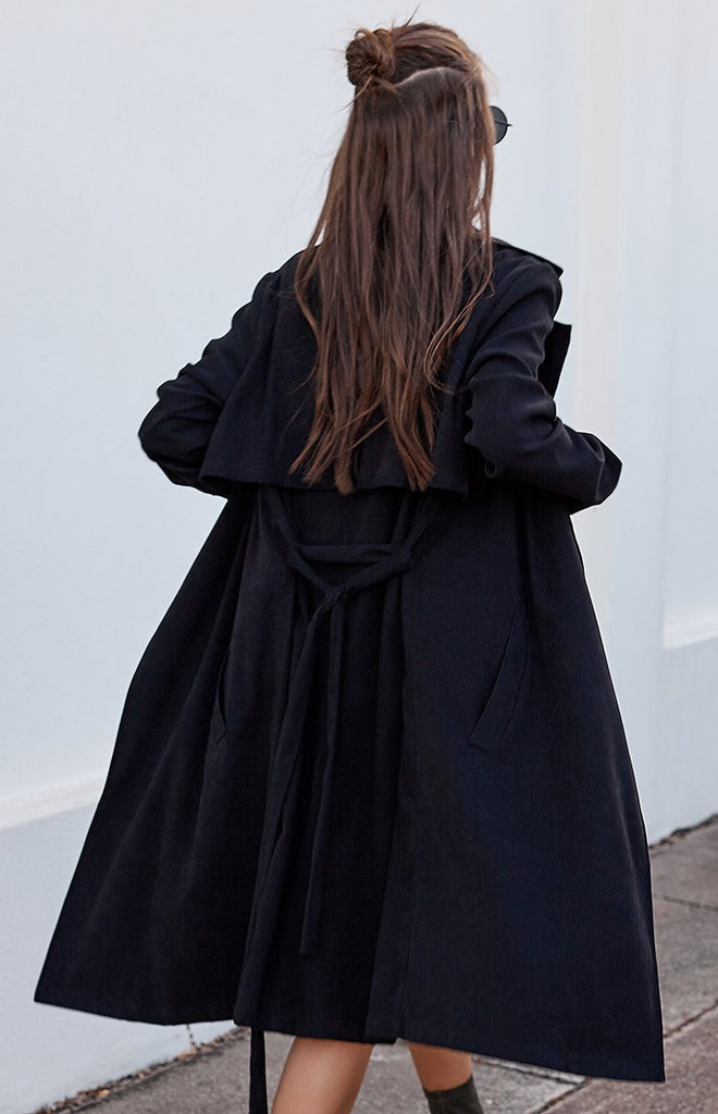 Windsor Trench Coat Black